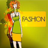 Modern fashion background Stock Photography