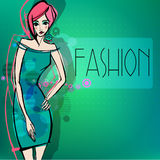 Modern fashion background with fa Royalty Free Stock Photos