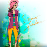 Modern fashion background with fa Royalty Free Stock Images