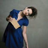 Modern fashion caucasian model Stock Images