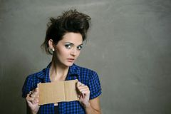 Modern fashion caucasian model Stock Photo