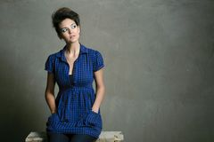 Modern fashion caucasian model Royalty Free Stock Image