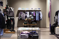 Modern and fashion clothes store Royalty Free Stock Photography
