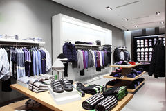 Modern and fashion clothes store Royalty Free Stock Photo