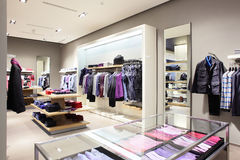 Modern and fashion clothes store Royalty Free Stock Images