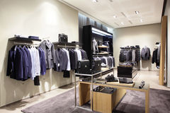 Modern and fashion clothes store Stock Image