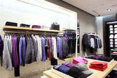 Modern and fashion clothes store Royalty Free Stock Image