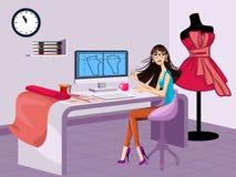 Modern fashion designer. Vector illustration of a modern fashion designer Stock Photo