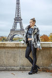 Modern fashion-monger in Paris, France looking into distance Royalty Free Stock Photo