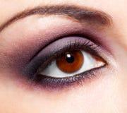 Modern fashion violet makeup Stock Image