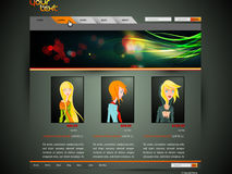 Modern Fashion Web Template Stock Images
