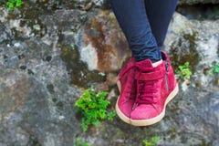 Modern fashionable boots Stock Photo