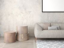 Modern fashionable living room with stylish furniture. Stock Image