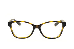 Modern fashionable spectacles isolated on white background. Royalty Free Stock Images