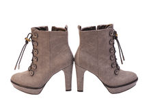Modern fashionable women winter boots Stock Photo