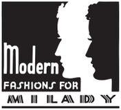 Modern Fashions For Milady. Retro Ad Art Banner vector illustration