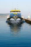 Modern and fast ferry boat Royalty Free Stock Images