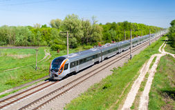 Modern fast passenger train Royalty Free Stock Photography