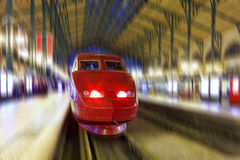 Modern Fast Passenger Train. Motion effect Stock Images