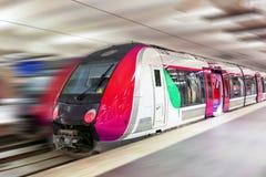 Modern Fast Passenger Train. Motion effect. Modern Fast Passenger Train. Motion  effect Stock Photography