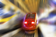 Modern Fast Passenger Train. Motion effect Royalty Free Stock Photography