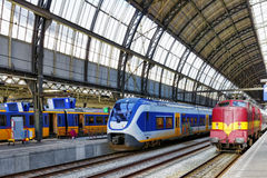 Modern Fast Passenger Train   at the station. Royalty Free Stock Photo