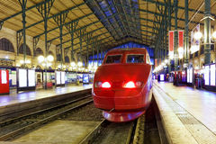 Modern Fast Passenger Train  train at the station. Royalty Free Stock Photography