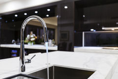 Modern faucet with LED Royalty Free Stock Photos