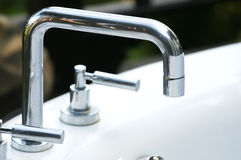 Modern faucet Royalty Free Stock Photo