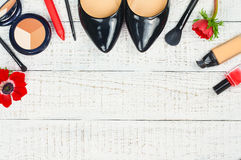 Modern female accessories. Royalty Free Stock Photography