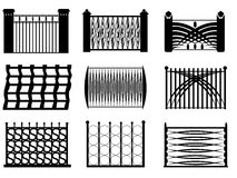 Modern fence style Royalty Free Stock Photography