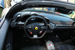 Modern ferrari interior detail Royalty Free Stock Images