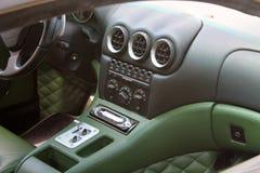 Modern ferrari sports car interior Stock Photography