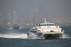 Modern ferry boat Royalty Free Stock Photos