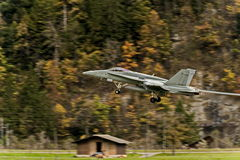 Modern fighter - during take-off Royalty Free Stock Photography