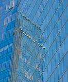 Modern financiëncentrum Stock Afbeeldingen