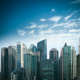 Modern financial buildings in shanghai Royalty Free Stock Images