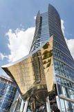 Modern financial office building. WARSAW, POLAND - SEPTEMBER 10, 2016: Warsaw Spire office building in capital of Poland. This prestigious building in the heart Royalty Free Stock Photos