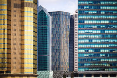 Modern financial office buildings Royalty Free Stock Image