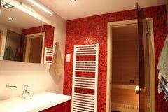 Modern Finnish bathroom Stock Images