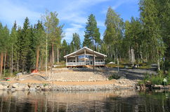 Finland, Savonia: Modern Cabin Stock Photography