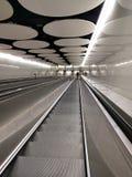 Modern finnish metro escalator to subway Royalty Free Stock Images
