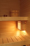 Modern Finnish sauna Royalty Free Stock Photos