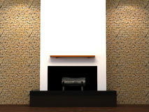 Modern fire place Royalty Free Stock Photography