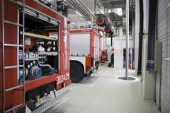 Modern fire station Stock Image