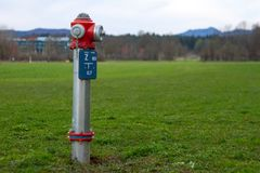 Modern fire water hydrant stock photo