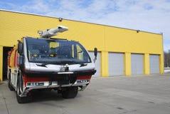 Modern firefighting åker lastbil royaltyfria foton