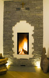 Modern fireplace Stock Photos