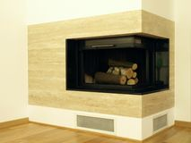 Modern fireplace Royalty Free Stock Photography