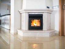 Modern Fireplace Royalty Free Stock Image